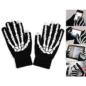 Three Points Bone Shape Capacitive Touch Screen Gloves For iPhone iPad