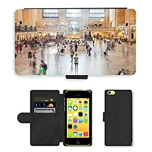 Hot Style Cell Phone Card Slot PU Leather Wallet Case // M00168988 Grand Central Station New York Nyc // Apple iPhone 5C