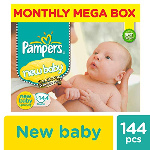 Pampers Active Baby Diapers New Born 144 Count