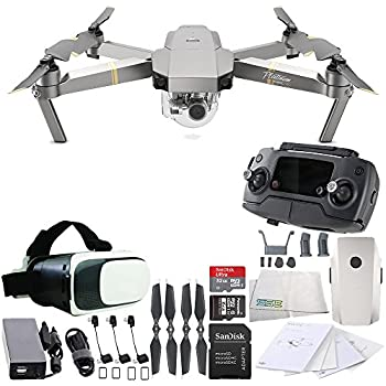 DJI Mavic Pro Platinum Collapsible Quadcopter Virtual Reality Experience VR Starters Bundle