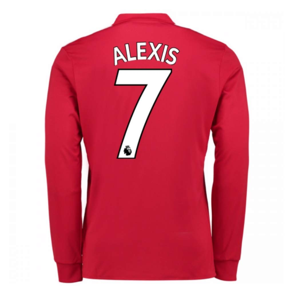 20Alexis Sanchez 77-20Alexis Sanchez 78 Man United Long Sleeve Home Football Soccer T-Shirt Trikot (Alexis Sanchez 7)