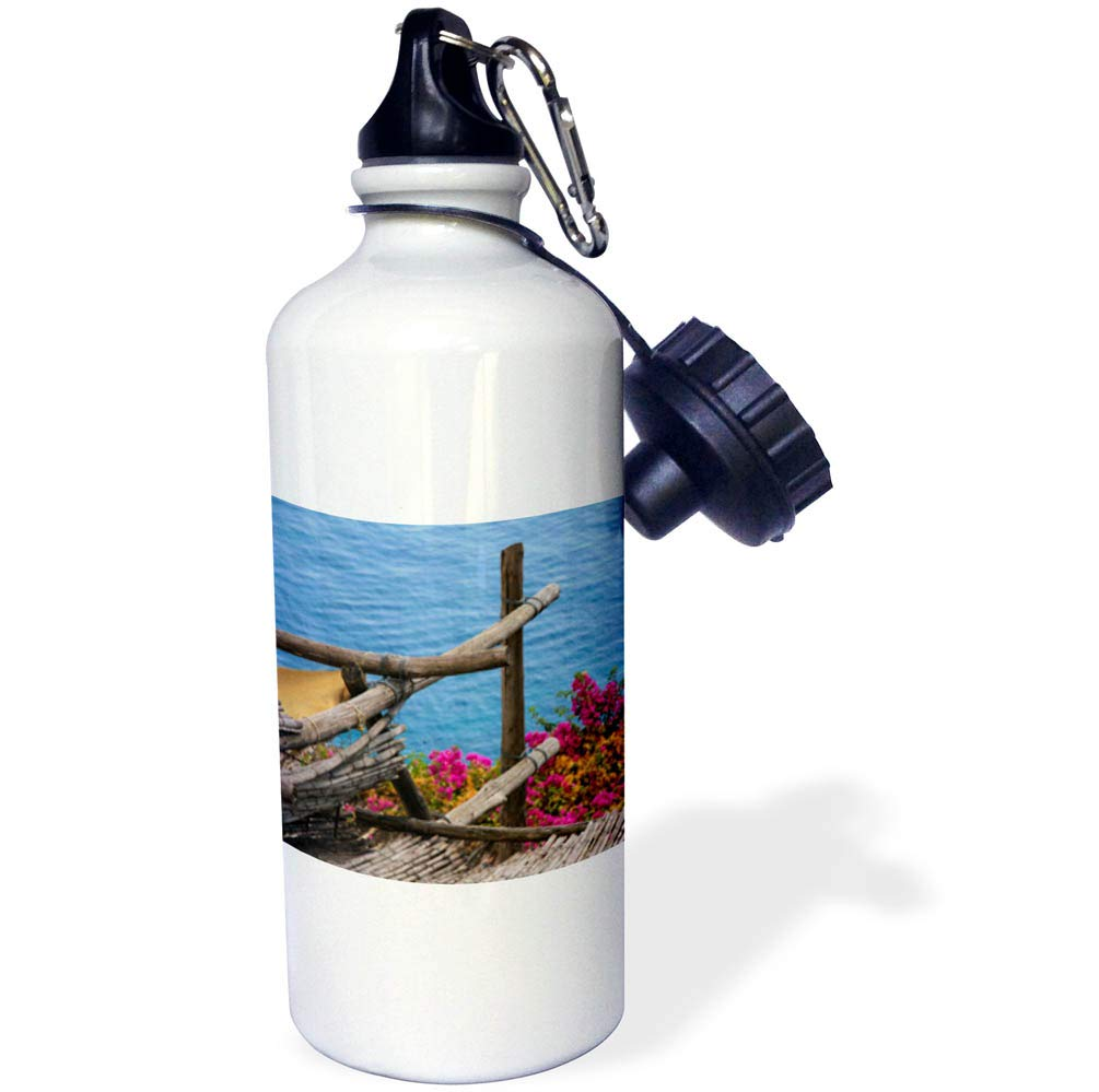 3dRose Elysium Photography - Seascape - Ocean view from Positano, Italy - 21 oz Sports Water Bottle (wb_289610_1)