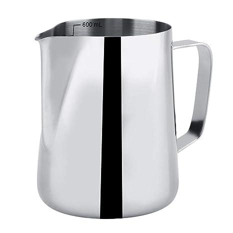 Jarra de leche de acero inoxidable, taza de leche de buena ...