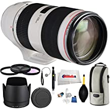 Canon 70-200mm f/2.8L IS II USM camera lens bundle includes 3 Piece Filter Kit (UV-CPL-FLD) + Lens Cap Keeper + Lens Cleaning Pen + Cleaning Kit & Microfiber cleaning cloth!