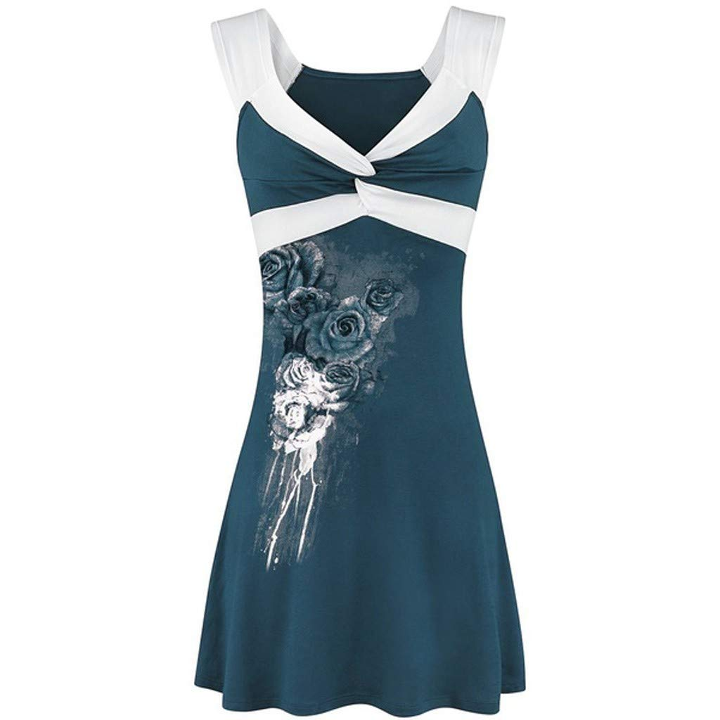 Women Tank Tops,Casual Cold Shoulder Blouse Ladies Sexy Floral Pattern Vest Seamless Underwear Sleeveless Tee Mint Green