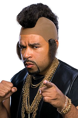 [Mememall Fashion Mr. T Pity the Fool Hammer Adult Costume Wig] (Mr T Costumes)
