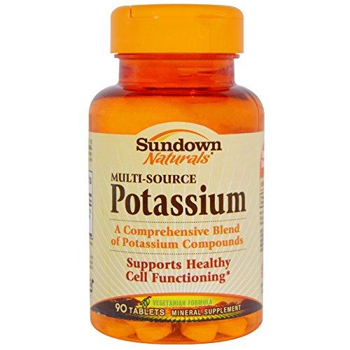 Sundown Naturals, Multi-Source Potassium, 90 Tablets - (Multi Source Potassium)