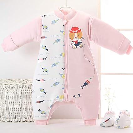 Recién Nacido Bolsa De Dormir Bebé Algodón Anti-Retroceso Es Mangas Desmontables Pierna Saco De