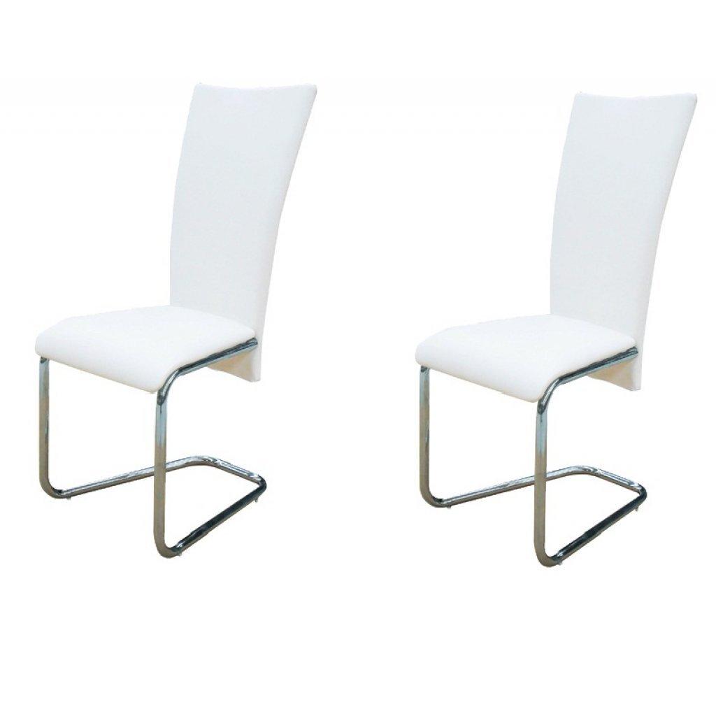 vidaXL 2x Sedie da Pranzo Similpelle Bianco Moderne Seggiole Cucina ...