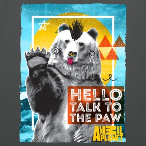 Paw Tote Bear Animal Polar Punk Planet The Graphite Bag Spreadshirt To Grey Talk 8z1xRRnw