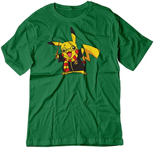 BSW Youth Pikachu Potter Pokemon Harry Potter Shirt XS Kelly Green (Lure J Kelly)