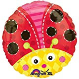 Anagram 18 Inch Circle Foil Balloon - Cute Lady Bug