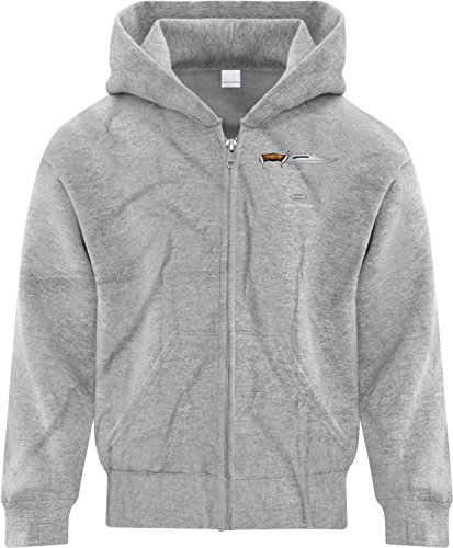 Price comparison product image BSW Girl's Rambo - MacGyver - Chuck Norris Face Off Cool Zip Hoodie Med Grey