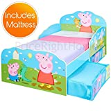Peppa Pig Toddler Bed Storage plus Deluxe Foam Mattress
