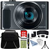 Canon PowerShot SX620 HS Digital Camera Plus Bundle Kit with 32GB HC Memory Card, Carrying Case, Mini Tripod, Screen Protectors, Cleaning Kit, Extreme Electronics Cloth and Accessories - Black