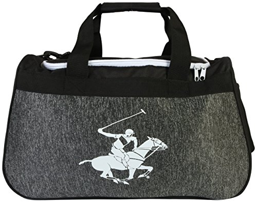 Beverly Hills Polo Club Gym Duffle Bag, Black/White For Sale