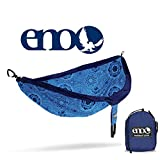 ENO - Eagles Nest Outfitters DoubleNest Print Lightweight Camping Hammock, 1 to 2 Person, Blue Mantra
