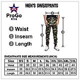 ProGo Men's Joggers Sweatpants Basic Fleece Marled