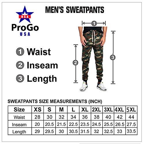 ProGo Men's Joggers Sweatpants Basic Fleece Marled Jogger Pant Elastic Waist (Medium, Charcoal)