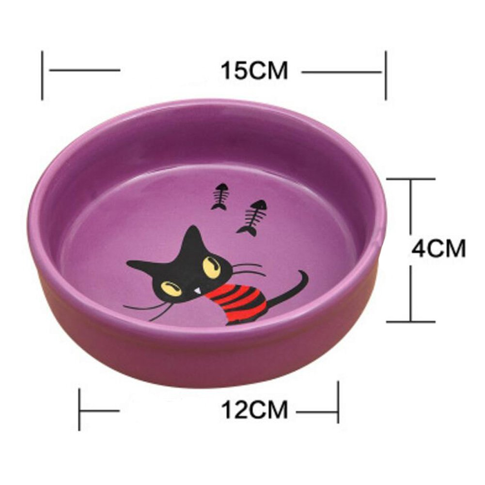 Amazon.com : George Jimmy Porcelain Kittens Pets Bowls Dogs Cats Bowls Pet Supplies Cat Accessories-Purple : Pet Supplies