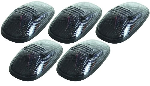 Pacer Performance 20-245S Hi-Five Smoke Dodge Style Cab Roof Light Kit, (Pack of 5)