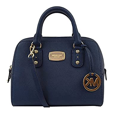 michael kors small satchel saffiano navy leather handbags. Black Bedroom Furniture Sets. Home Design Ideas