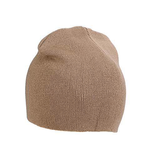 IRONLAND Hats Winter Warm caqui Hombres Beanie Skull Mujeres para y Knitting Lana Cap OqBSOYr