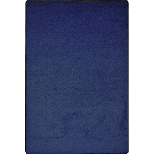 Rug By Joy Carpets - Joy Carpets 80S-03 Kid Essentials Endurance Misc Solid Color Area Rugs, 144-Inch by 96-Inch, Midnight Sky