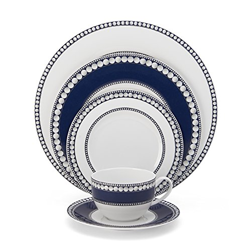Mikasa Akoya Cobalt 5Piece Place Setting Dinnerware Set Service for 1