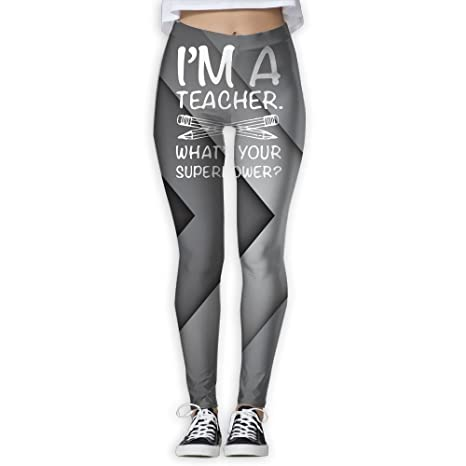 Amazon.com : I Am A Teacher Womens Slim Workout Full Length ...