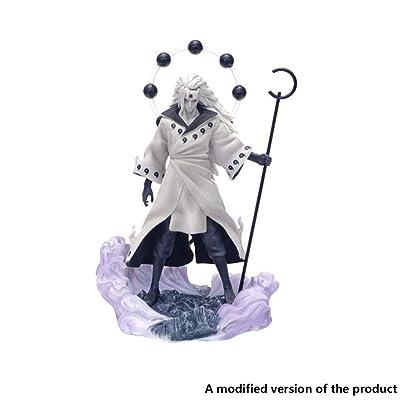 """Huangyingui Naruto Shippuden: Uchiha Madara Naruto Shippuden PVC Figure(Rikudō Sennin Mode)- 11.02"""" H (28cm): Toys & Games"""