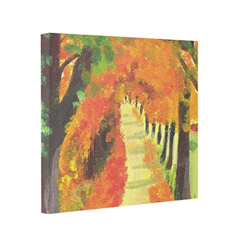 Moc Moc Abstract Art Canvas French path in Autumn Painting On Canvas Wall Art Canvas Prints
