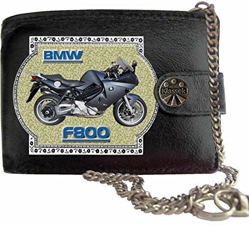 BMW F800 Klassek Herren Geldbörse Geldbeutel Portemonnaie mit Kette Motorrad Zubehör Bike