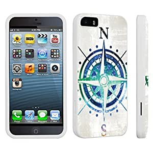 DuroCase ? Apple iPhone 5 / iPhone 5s Hard Case White - (Compass Rose)