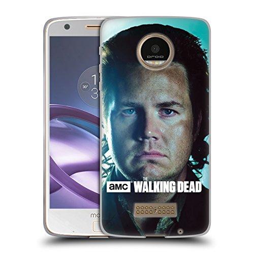 Official AMC The Walking Dead Eugene Characters Soft Gel Case for Moto Z Force / Z Force - Moto Eugene
