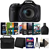 Canon PowerShot SX540 HS 20.2MP 50x Zoom WiFi/NFC Digital Camera Black Import Model with Photo Editing Software Bundle