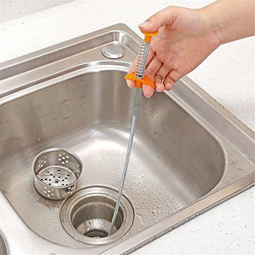Flexible longue port/ée /à griffes Pick Up /étroit Bend Curve Pince /à ressort Grip Outil de nettoyage des /Égouts Serria pour cuisine//lavabo//baignoire 80 cm