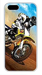 iPhone 5 5S Case Motocross PC Custom iPhone 5 5S Case Cover White by Maris's Diary