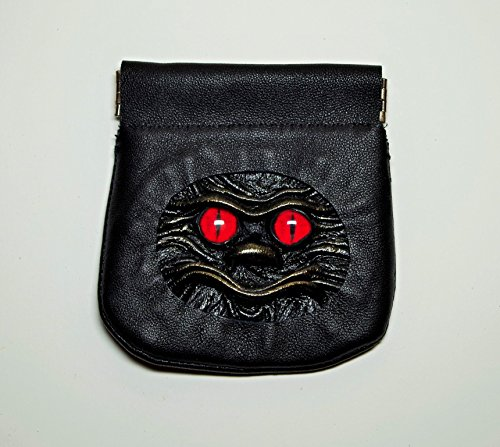 Leather Change Pouch, Coin Holder, Money Pinch Purse, black leather, squeeze purse, flex frame wallet, 3D dragon eye face, dice bag, SD TF Headphone Case, Cable Earbuds Earphone Headset Storage Bag