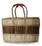 NOVICA Beige Natural Fiber Handbag, 'African Charm'