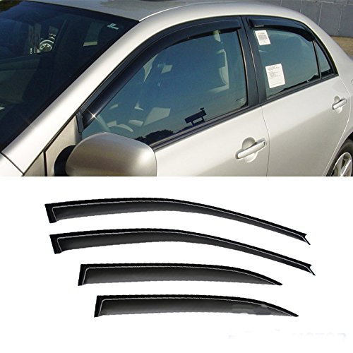 cord CB 4/5-Door Sedan/Wagon Sun/Rain Guard Vent Shade Window Visors Wind Deflector 4pcs (Accord Wagon)