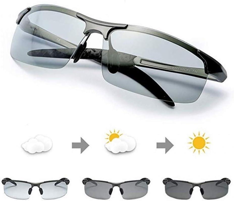 ZKAMUYLC Gafas de Ciclismo Gafas de Sol fotocromáticas polarizadas Lentes de transición para Hombre Conducción Gafas de Pesca Conductor Masculino Gafas de Seguridad, style1: Amazon.es: Deportes y aire libre