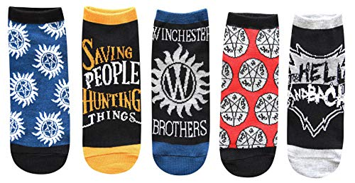 Hyp Supernatural Winchester Brothers Juniors/Womens 5 Pack Ankle Socks