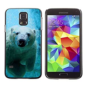 Exotic-Star Snap On Hard Protective Case For Samsung Galaxy S5 V SM-G900 ( Cool Polar Bear )