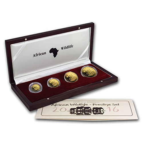 DE 2016 Somalia 4-Coin Gold African Elephant Proof Set Brilliant Uncirculated (Elephant Set Coin)