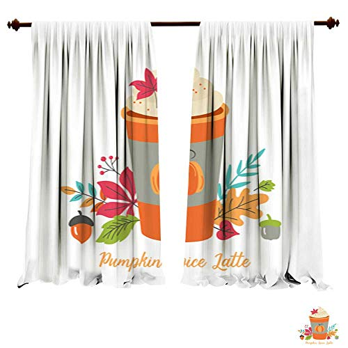 DragonBuildingMaterials Curtains for Bedroom Pumpkin Spice L