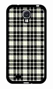 Black and White Plaid- Plastic Phone Case Back Cover Samsung Galaxy S4 I9500