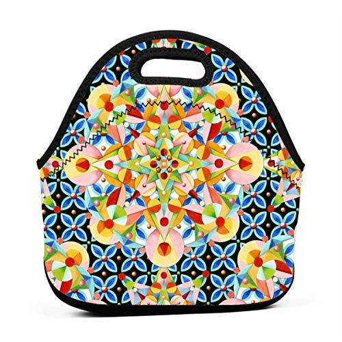 Elizabethan Pastel Mandala_2963 Lunch Bag for Women,Men and Kids - Reusable Soft Lunch Tote for Work and School