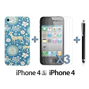 Carving Pattern Hard BackDiy For Iphone 6 Case Cover Style K with 3 Screen Protectors and Stylus