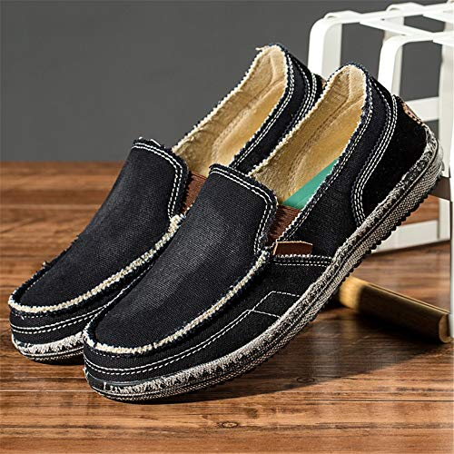 Qiusa tamaño Redonda Antideslizante Jean Classic Shoes EU U Casual Punta Negro 42 Suelas for Tip Men Suaves Color rqA1rxnZw